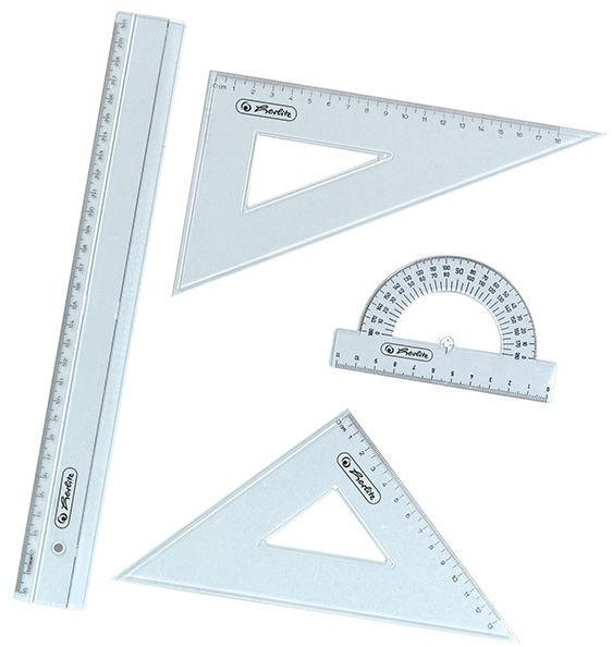 Herlitz Geometry Set 4 Parts Plastic 08700403