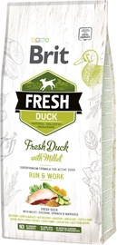 Сухой корм для собак Brit Adult Fresh Duck With Millet Run & Work 12kg