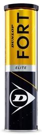Dunlop Fort Elite Tennis Balls 4pcs Yellow