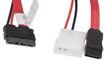 Lanberg Cable Micro SATA / Molex x 2 Red 0.45m