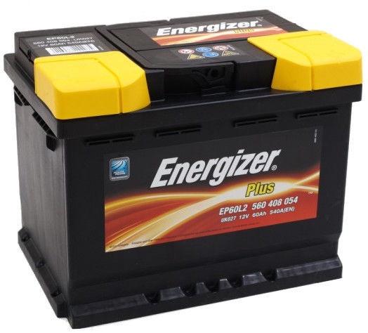 Аккумулятор Energizer Plus EP60-L2, 12 В, 60 Ач, 540 а