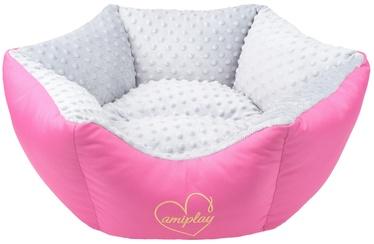 Amiplay Babydoll Crown Bed L 68x23cm Light Gray
