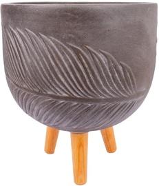 Вазон Home4you Palm-1 88051, коричневый, 360 мм