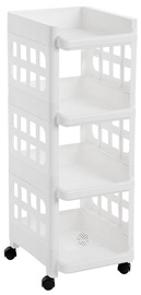Songmics Kitchen Storage Rack White