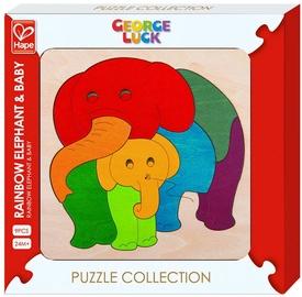 Koka puzle Hape Rainbow Elephant & Baby E6505A