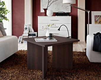 Kafijas galdiņš ASM Piko, brūna, 600x600x450 mm
