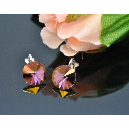 Vincento Clip On Earrings With Swarovski Elements Rivoli VE-2328