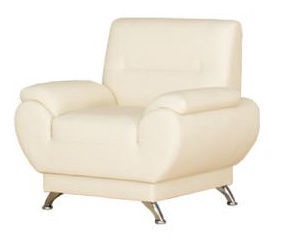 Kanclers Livonia Armchair Eco Leather Cream