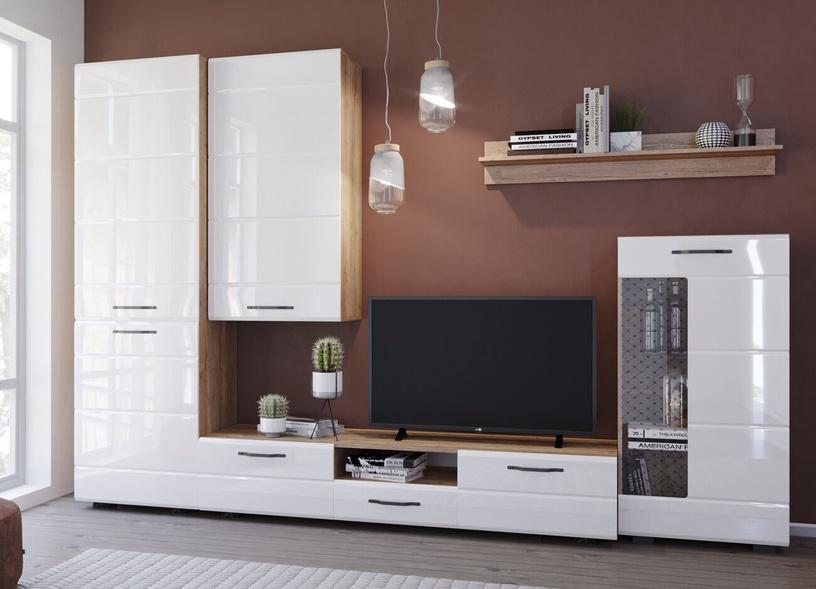 TV galds MN Asti ATB 1700.1, balta/ozola, 1700x385x445 mm