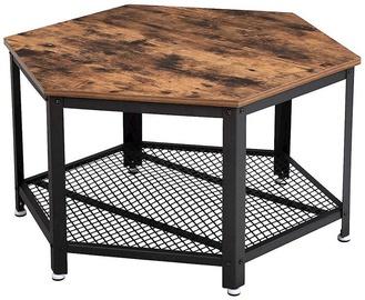 Kavos staliukas Songmics, rudas/juodas, 750x750x450 mm