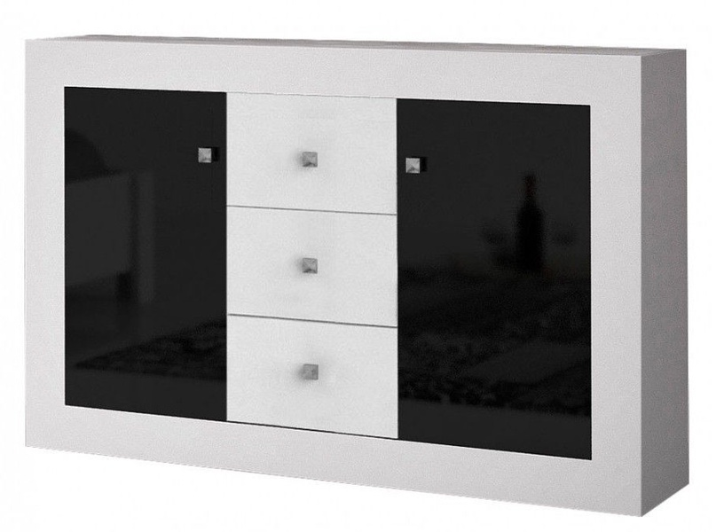Idzczak Meble Roma 2D3S Chest Of Drawers White Black