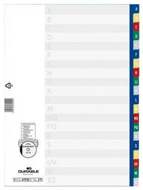 Atdalīšanas ierīces Durable Divider Index A-Z Coloured