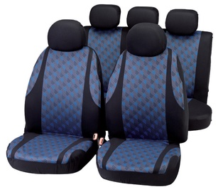 Bottari Jaquard Seat Cover Set Black Blue