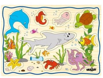 Puzle Woody Sea Life Set 90252, 12 gab.