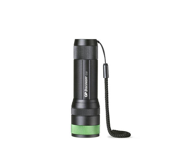 GP Batteries GPACT0C32000 LED Torchlight Black