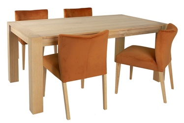 Обеденный комплект Home4you Turin 11325 Orange Brown