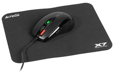 A4Tech Mouse Pad + Mouse Black