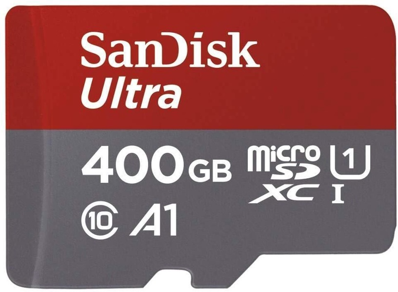 SanDisk Ultra 400GB microSDXC UHS-I Class 10 + SD Adapter SDSQUAR-400G-GN6MA