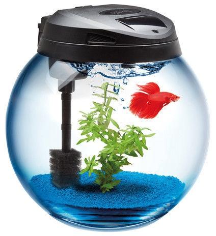Akvariumas Aquael Classic Spherical, juodas, 45 l, su įranga