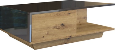 Kohvilaud Top E Shop Denver Artisan Oak/Black Gloss, 900x600x420 mm