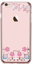 X-Fitted Lucky Flower Swarovski Crystals Back Case For Apple iPhone 6/6s Rose Gold