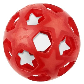 Hevea Star Ball Teether Raspberry Red