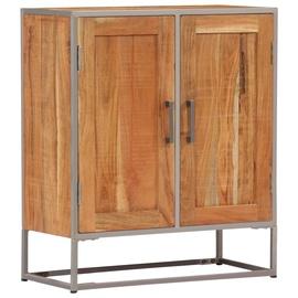 Ночной столик VLX Solid Acacia Wood, коричневый, 65x30x75 см