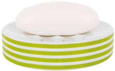Spirella Soap Dish Tube Stripes Green