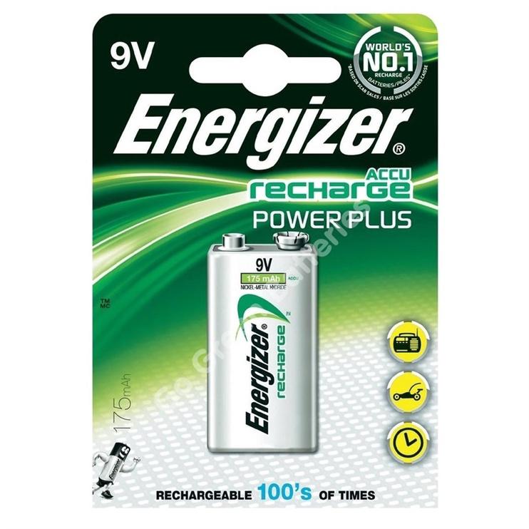 Baterija Energizer Recharge Power Plus 9V, 175mAh