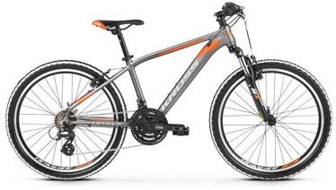 "Vaikiškas dviratis Kross Level Jr 2.0 24"" Graphite Orange 20"