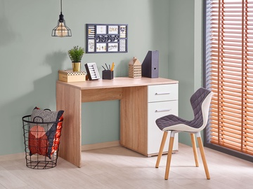 Halmar Writing Desk Lima Sonoma Oak White