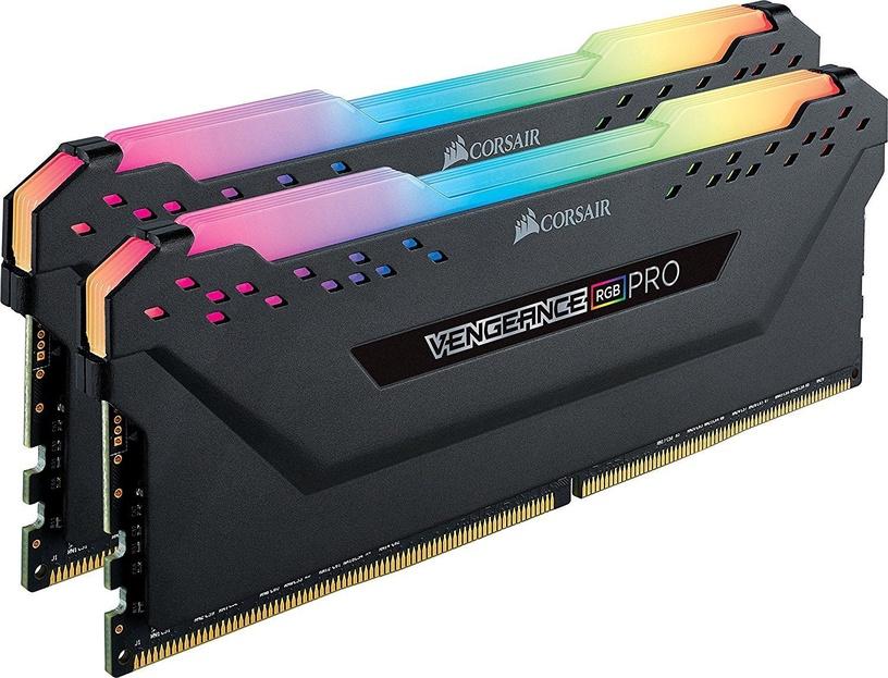 Operatīvā atmiņa (RAM) Corsair Vengeance RGB Pro Black CMW16GX4M2Z3600C18 DDR4 16 GB