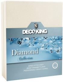 Palags DecoKing Diamond, balta, 220x200 cm, ar gumiju