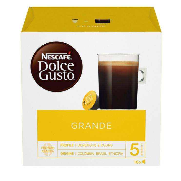 Kavos kapsulės Nescafe Dolce Gusto Grande, 128 g., 16 vnt.
