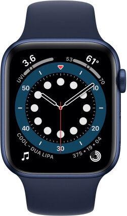 Nutikell Apple Series 6 GPS 44mm LTE M09A3WB/A, sinine