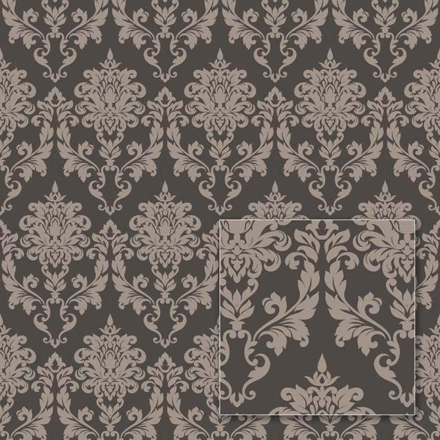 Tapetas flizelino pagrindu, Sintra, 356937, Milano, rudas, klasikinis