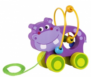 Smily Play Bead Pull Along Hippo TKE007