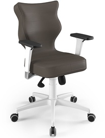 Entelo Perto White Office Chair VE03 Brown