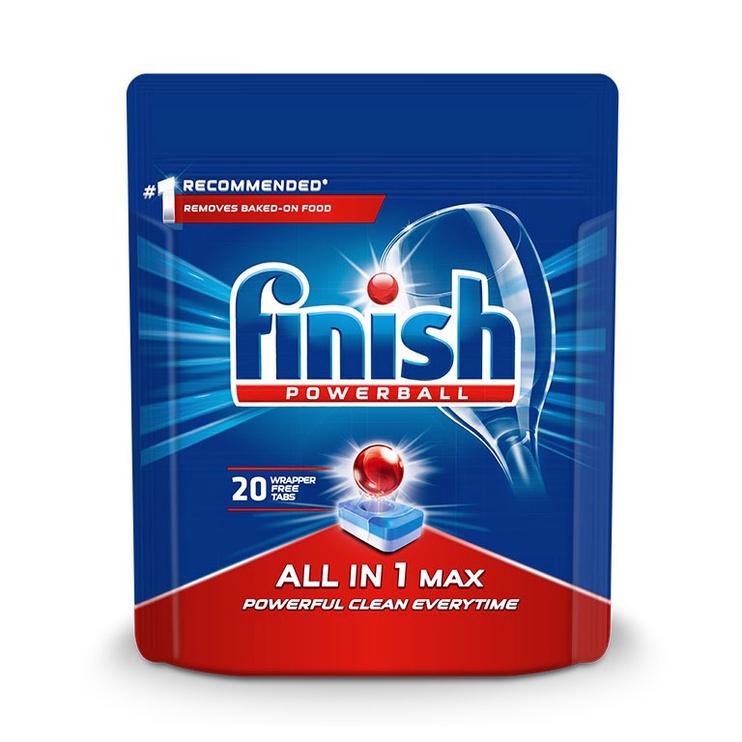 Капсулы для посудомоечной машины Finish All in 1 Max, 20 шт.