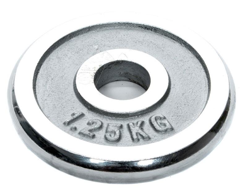 Diskinis svoris grifui YLPS18, chromuotas, 1,25 kg