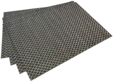 Fissman Table Mat PVC 45x30cm Black 0646