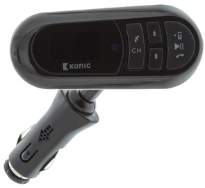 Konig FM Audio Transmitter Bluetooth/3.5mm Black