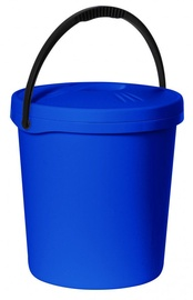 Plast Team Bucket With Lid 30.4x30.4x33.6cm 16l Blue