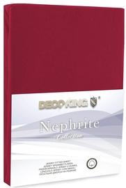 Простыня DecoKing Nephrite, вишневый, 160x200 см, на резинке