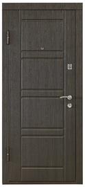 Plieninės vidaus durys PO-09, wenge, kairinės, 86x205 cm
