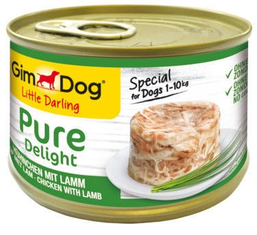 Влажный корм для собак (консервы) Gimborn Gimdog Food Little Darling Pure Delight w/ Chicken & Lamb In Jelly 150g