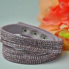 Vincento Bracelet Double Crystalsnake LB-1044
