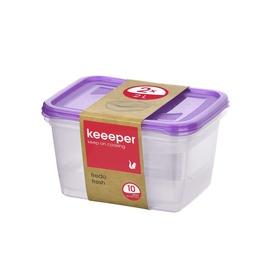 Hermetinių indelių rinkinys Keeeper Fredo fresh, 2 l, 2 vnt