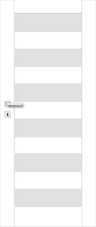 Полотно межкомнатной двери PerfectDoor ERIE 01, белый, 2035 см x 744 см x 4 см