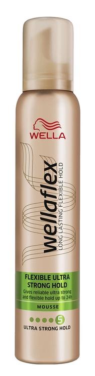 Plaukų putos Wella Wellaflex Ultra Strong Hair Mousse, 200 ml